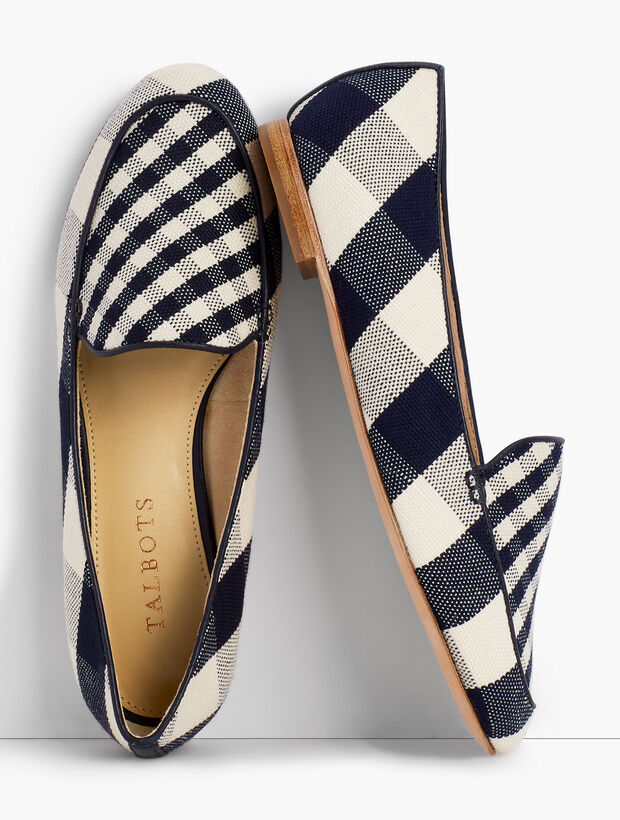 Ryan Loafers - Gingham Canvas