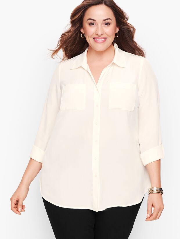 Washable Silk Camp Shirt