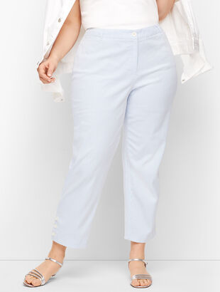Perfect Crop Pants - Stripe - Curvy Fit