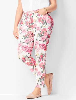 Slim Ankle Jeans - Floral