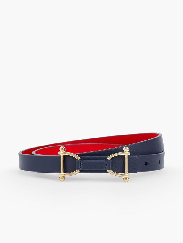 Reversible Leather Tab Belt