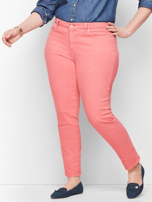 Slim Ankle Jeans - Garment Dyed Dusty Peach