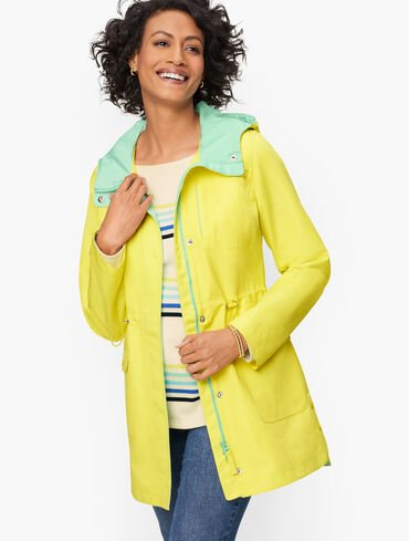 Hooded Canvas Anorak - Color