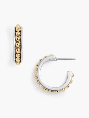 Classic Cabochon Hoop Earrings