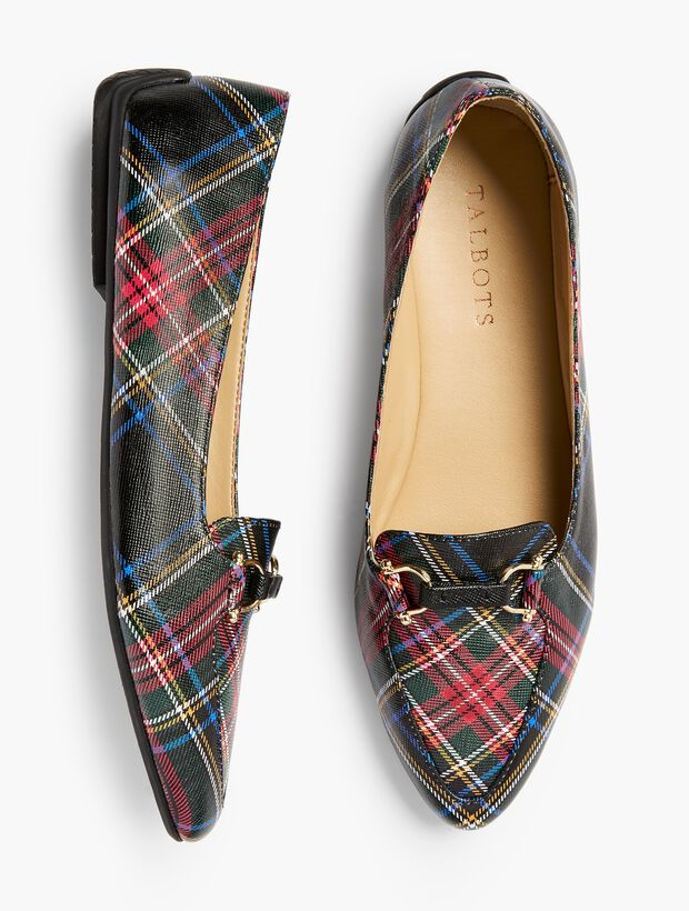 Francesca Driving Moccasins - Tartan Plaid