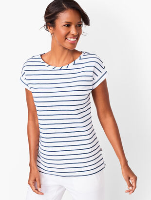 Stripe Textured Tee