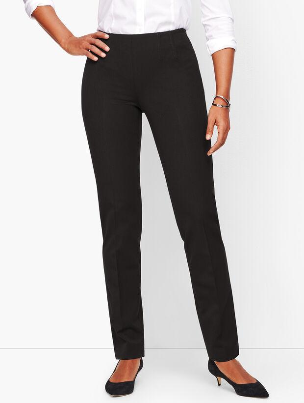 Refined Bi-Stretch Straight-Leg Pants