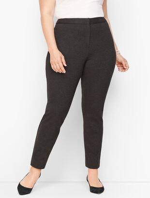 Plus Size Luxe Knit Slim Ankle Pants