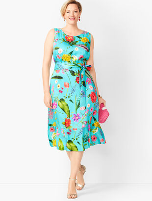 Floral Soft Fit & Flare Dress