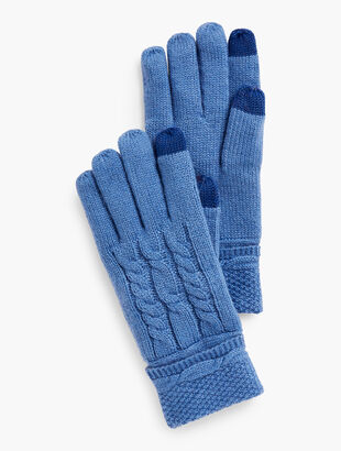 Cableknit Touch Gloves