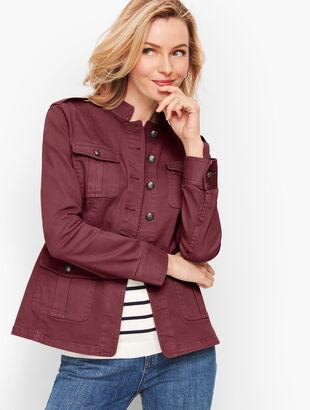 Band Collar Jacket - Garment Dyed