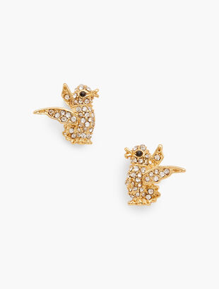 Crystal Songbird Stud Earrings