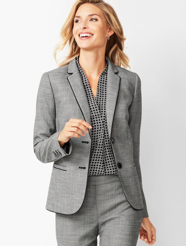 Westport Textured Two-Button Blazer
