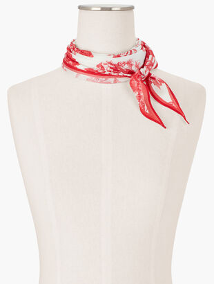 Blooming Toile Diamond Scarf