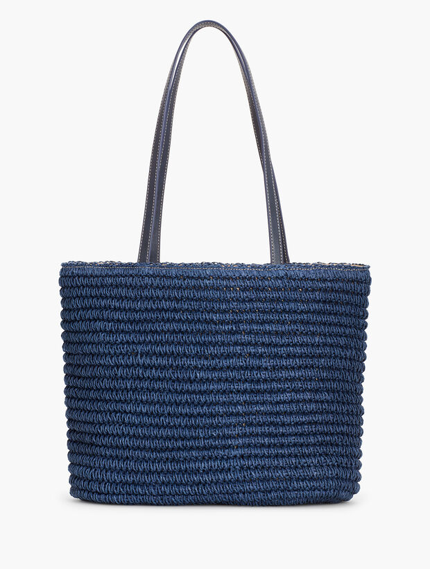 Crochet Paper Straw Tote Bag