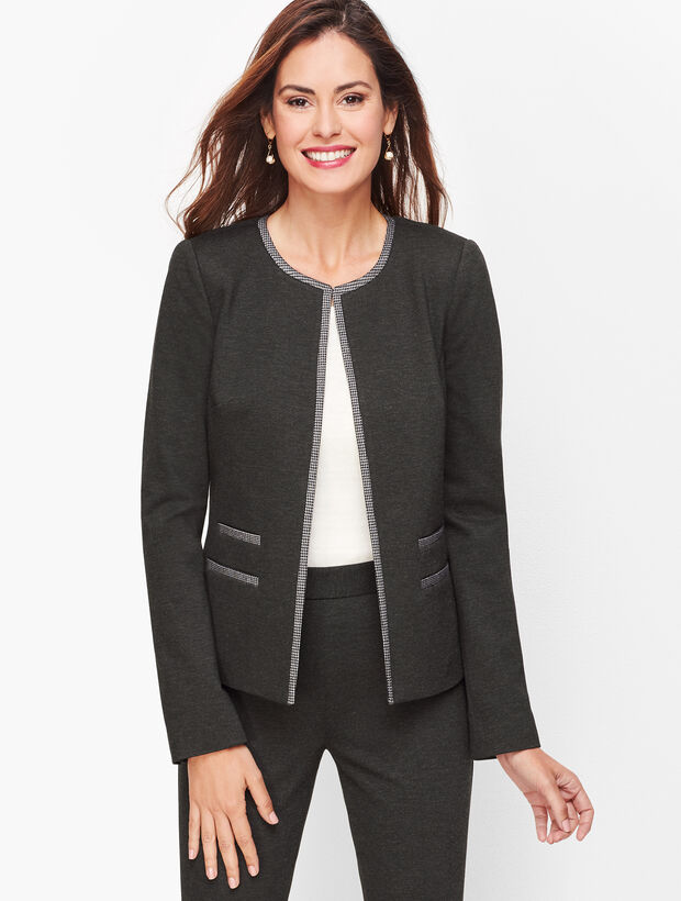 Luxe Knit Tipped Jacket