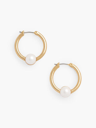 Perfect Pearl Hoop Earrings