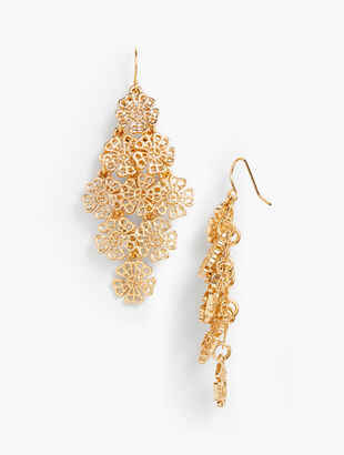 Filigree Petals Drop Earrings