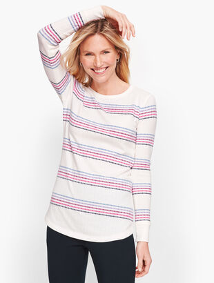 Multi Stripe Long Sleeve Tee