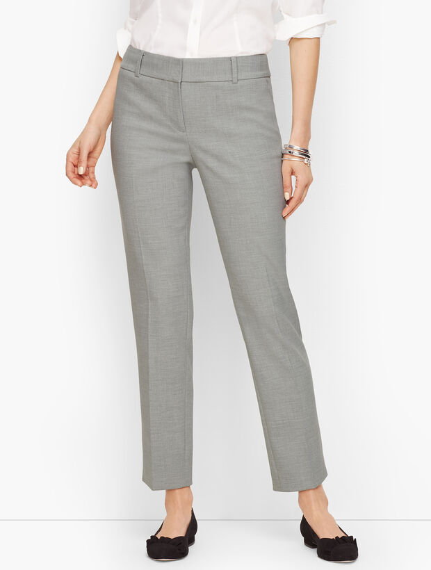 Talbots Hampshire Ankle Pants - Heathered Double Crepe