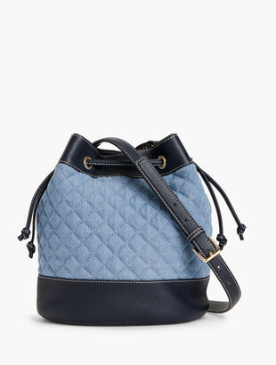 Bucket Bag - Quilted Denim