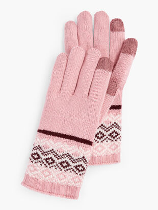 Reindeer Fair Isle Touch Gloves