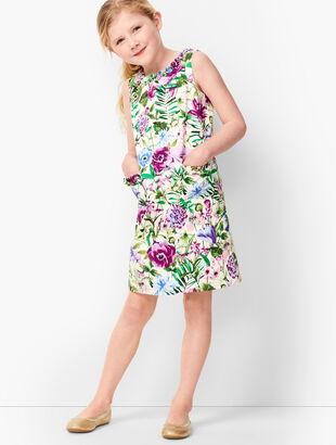 Girls Garden Sheath Dress