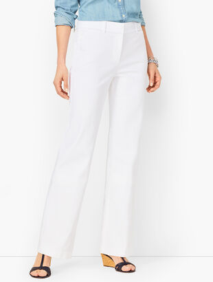 Denim High-Waist Trousers