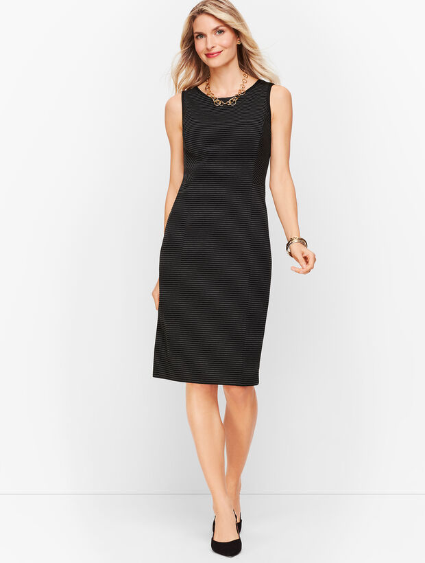 Italian Luxe Knit Sheath Dress - Stripe