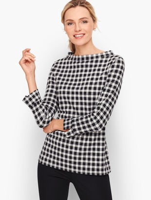 Sabrina Top - Buffalo Check