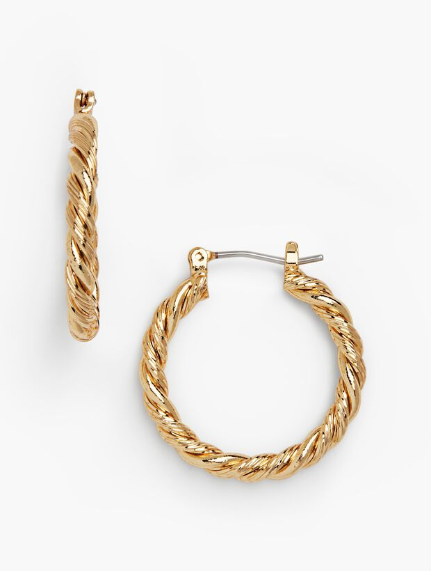 Twisted-Rope Hoop Earrings