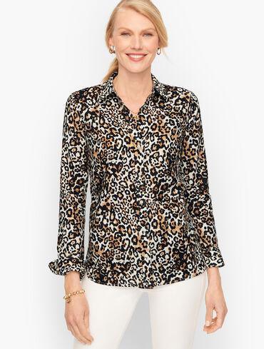 Classic Cotton Shirt - Leopard