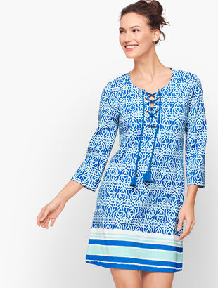 Cabana Life® Cover-Up - Blue Lattice