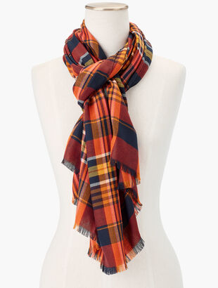 Harvest Plaid Yarn Dyed Scarf