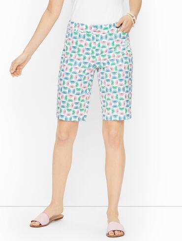 Perfect Shorts - Bermuda - Blocked Daisy