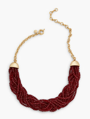 Red Pop Torsade Necklace