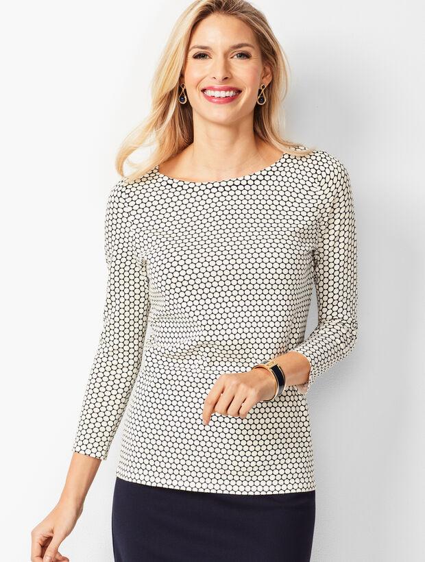 Classic Bateau-Neck Sweater - Geo Print