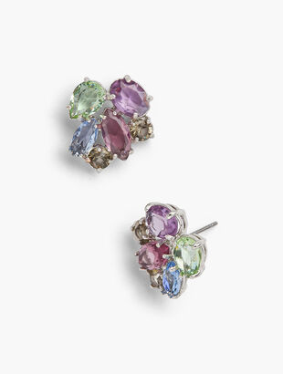 Pastel Jeweled Statement Earrings