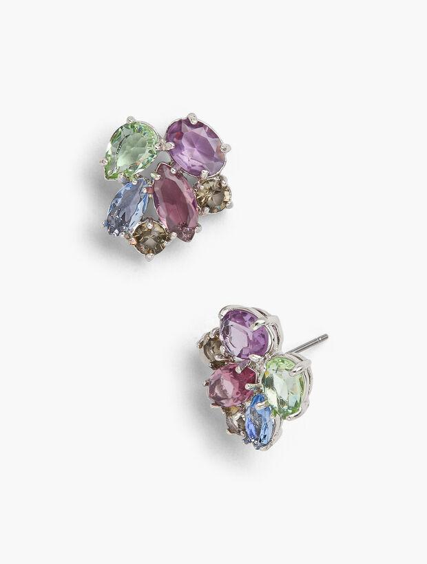Pastel Jeweled Statement Earrings
