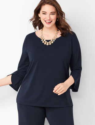 Knit Jersey Tulip Sleeve Top