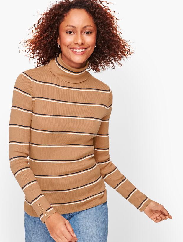 Thin Stripe Turtleneck