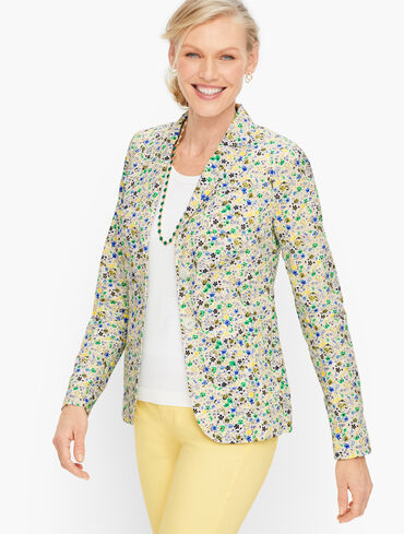 Cotton Ditsy Floral Blazer