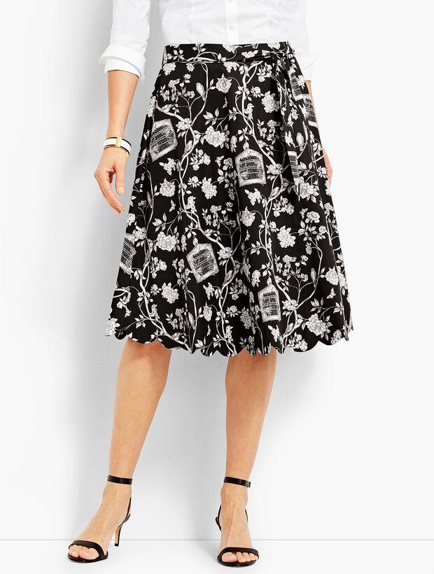 Scallop-Edge Skirt