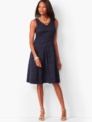Matelassé Fit & Flare Dress