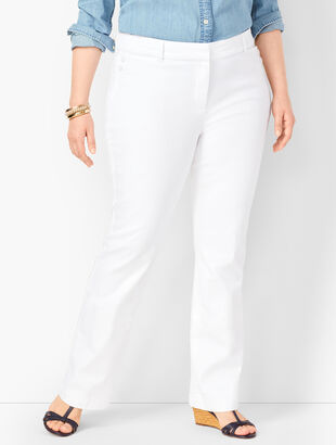 High-Waist Denim Trousers
