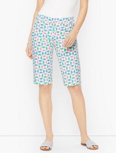 """Perfect Shorts - 13"""" - Blocked Daisy"""