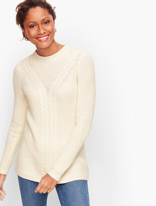 Cableknit Shaker Stitch Sweater