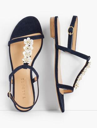 Keri Flower Embellished Sandals