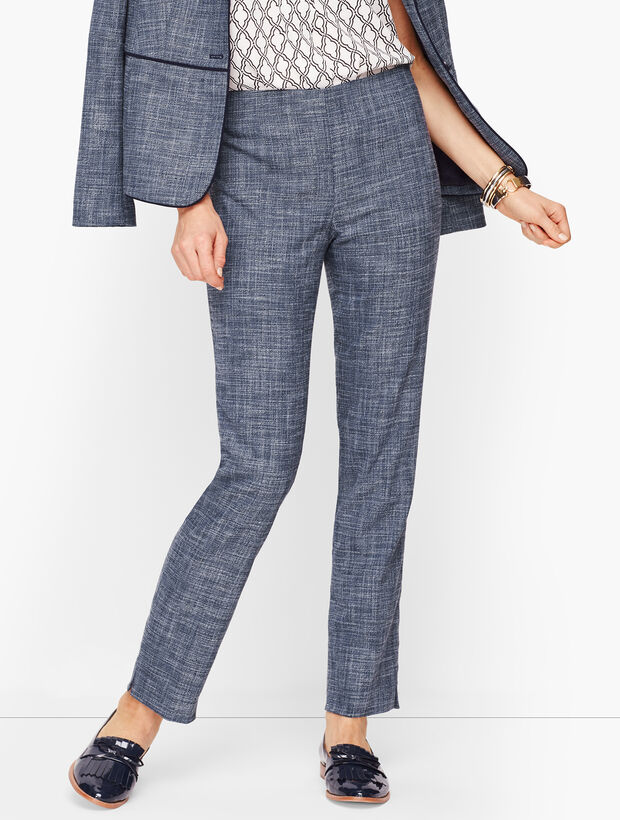 Lightweight Tweed Straight Leg Pants