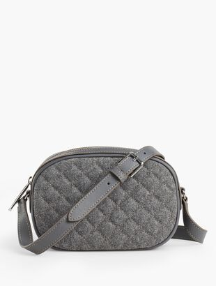 Quilted Flannel Crossbody Satchel - Flannel